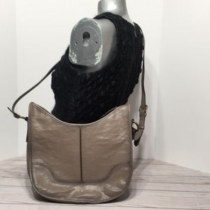 FRYE Lucy handbag gray taupe crossbody